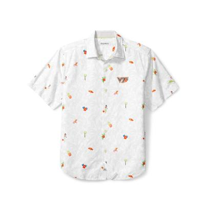Virginia Tech Tommy Bahama Beach Cation Printed Camp Shirt