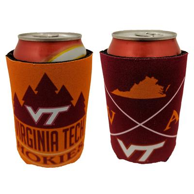 Virginia Tech 2 Sided Can Coozie
