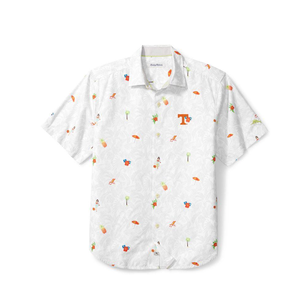 Tennessee Tommy Bahama Beach Cation Printed Camp Shirt