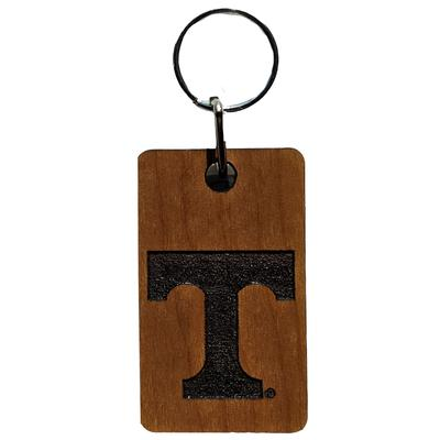 Tennessee Timeless Etchings Power T Wood Key Chain