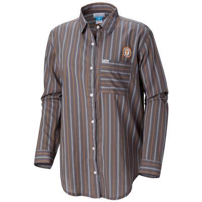 Tennessee Columbia Women's Sun Drifter III L/S Shirt CHARCOAL