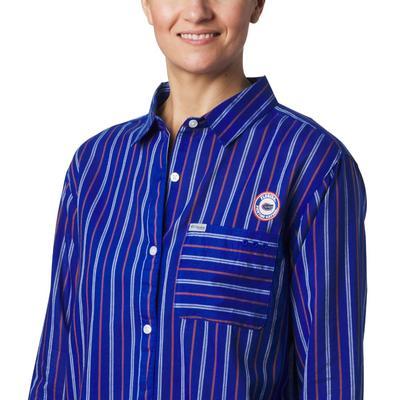 Florida Columbia Women's Sun Drifter III L/S Shirt AZUL
