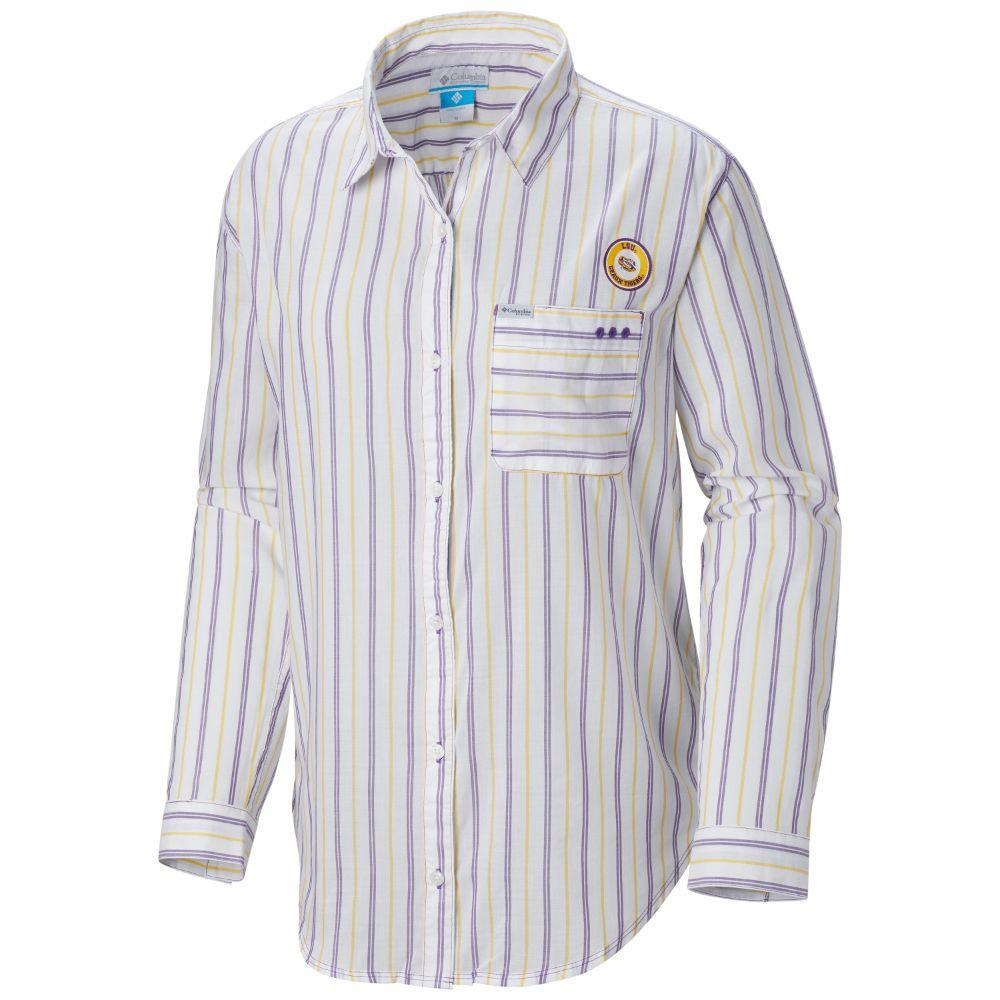 Lsu Columbia Women's Sun Drifter Iii L/S Shirt