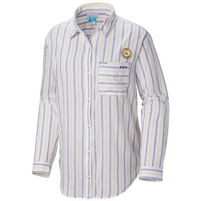LSU Columbia Women's Sun Drifter III L/S Shirt WHITE