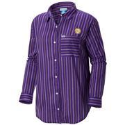Lsu Columbia Women's Sun Drifter Iii L/S Shirt - Plus Sizes