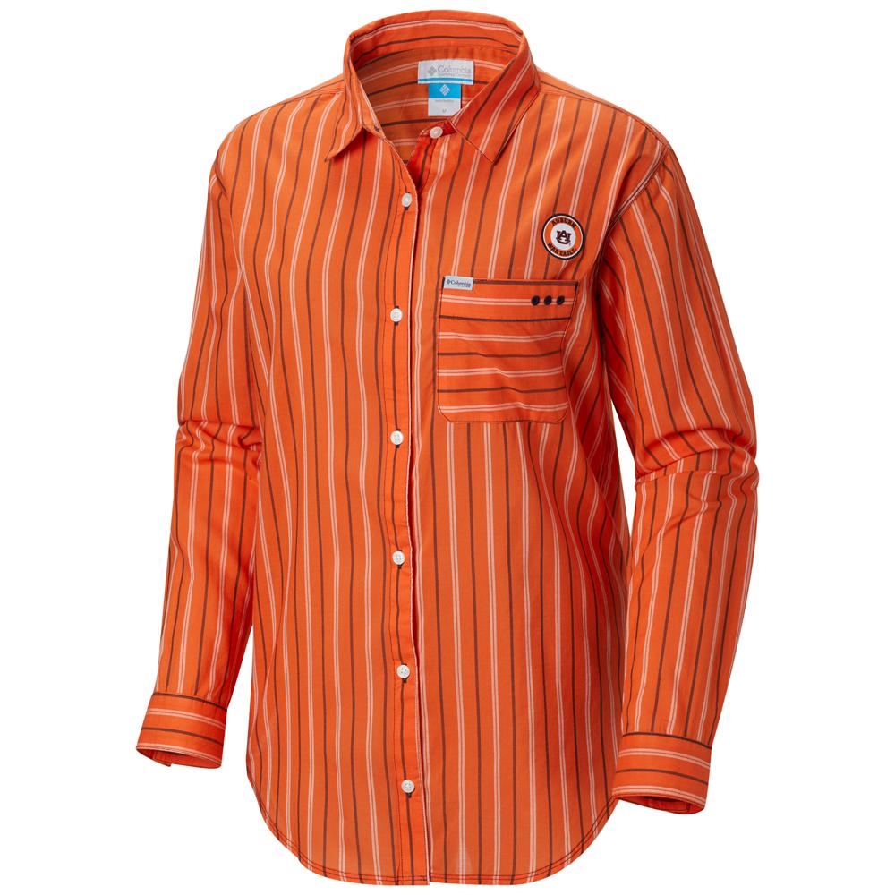 Auburn Columbia Women's Sun Drifter Iii L/S Shirt - Plus Sizes