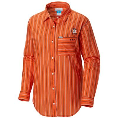 Auburn Columbia Women's Sun Drifter III L/S Shirt - Plus Sizes