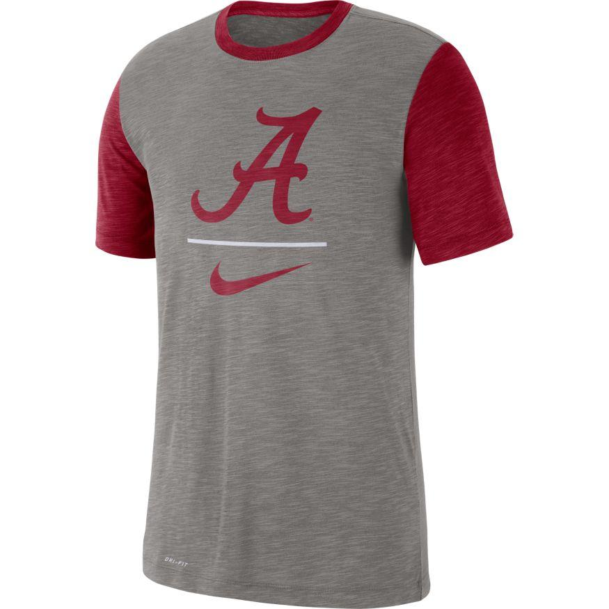 Alabama Nike Dri- Fit Cotton Slub Baseball Tee