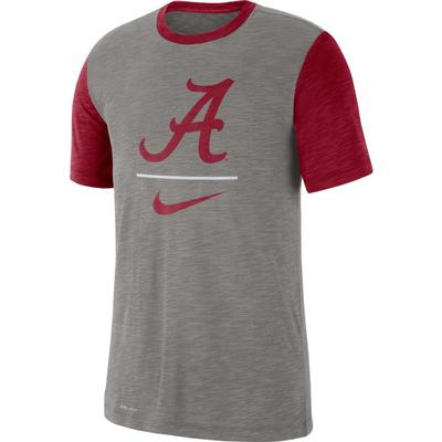 Alabama Nike Dri-Fit Cotton Slub Baseball Tee