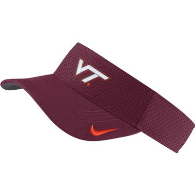 Virginia Tech Nike Aero Dri Visor MAROON