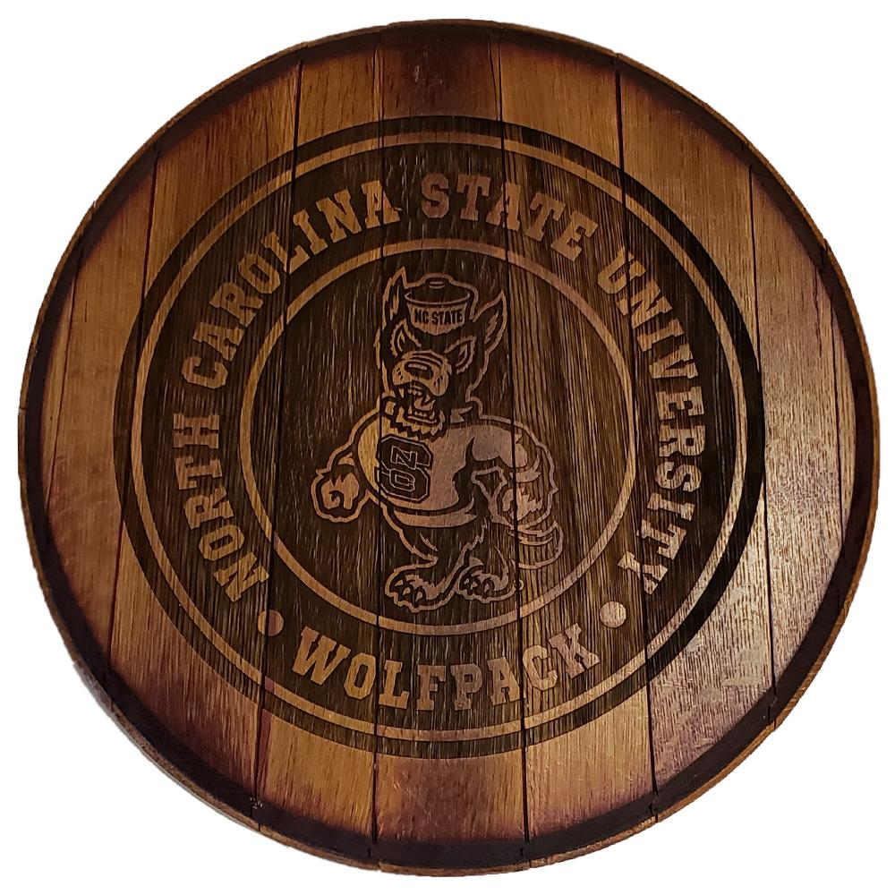 Nc State Timeless Etchings Barrel Head Sign