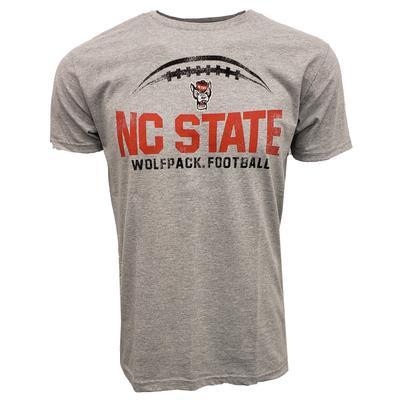 NC State Wolfpack Football Short Sleeve Tee GREY