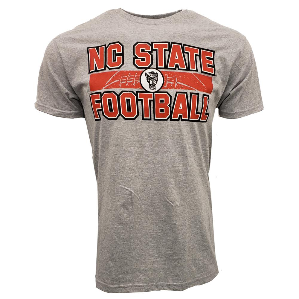 Nc State Wolfpack Stacked Laces Tee