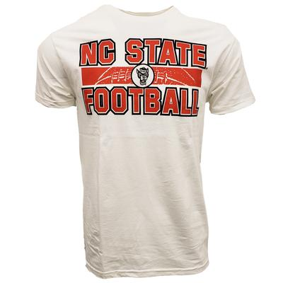 NC State Wolfpack Stacked Laces Tee WHITE