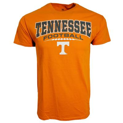 Tennessee Football Laces Stack Short Sleeve Tee