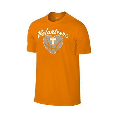 Tennessee Basketball Heart Short Sleeve Tee