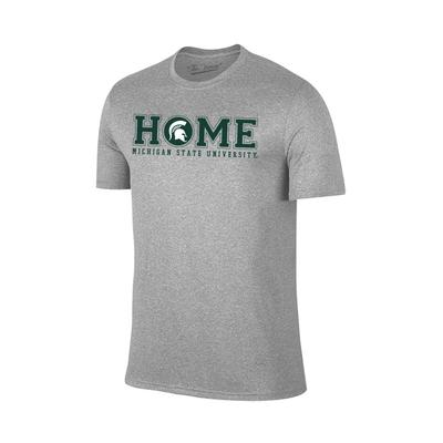 Michigan State HOME Short Sleeve Tee GREY
