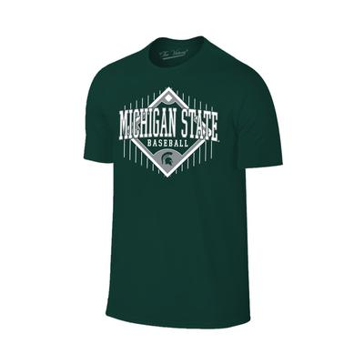 Michigan State Baseball Diamond Tee