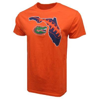 Florida Football Laces Inside State Logo 2 for $28 Tee ORANGE
