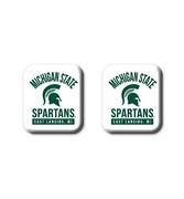 Michigan State Legacy Square Fridge Magnets 2 Pack