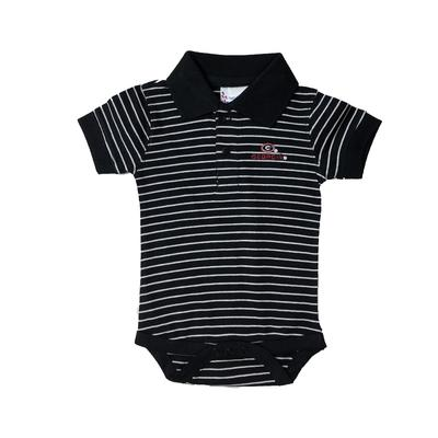 Georgia Infant Striped Polo Onesie