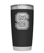 Nc State Yeti 20oz Black Powder Coated Rambler