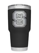 Nc State Yeti 30oz Black Powder Coated Rambler