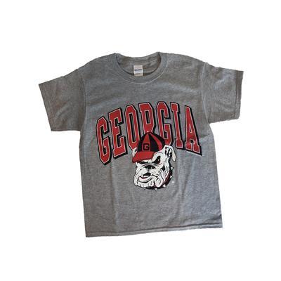 Georgia Arch Retro Logo Youth T-Shirt SPORT_GREY