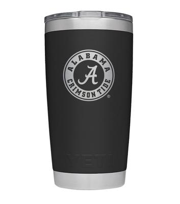 Alabama Yeti 20oz Black Powder Coated Rambler