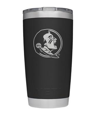 Florida State Yeti 20oz Black Powder Coated Rambler
