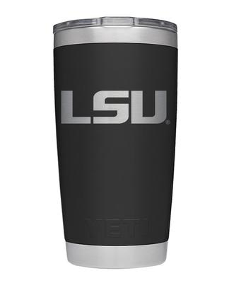 LSU Yeti 20oz Black Powder Coated Rambler