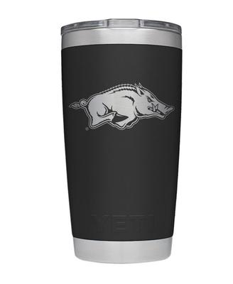 Arkansas Yeti 20oz Black Powder Coated Rambler