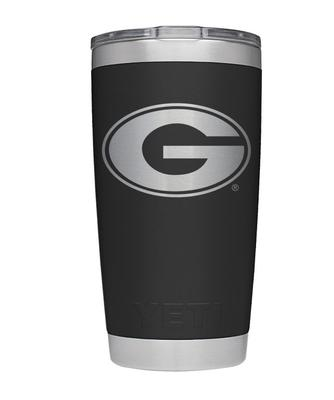 Georgia Yeti 20oz Black Powder Coated Rambler