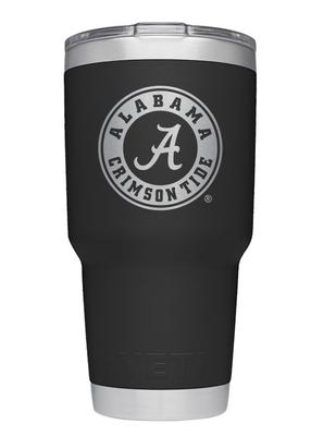 Alabama Yeti 30oz Black Powder Coated Rambler