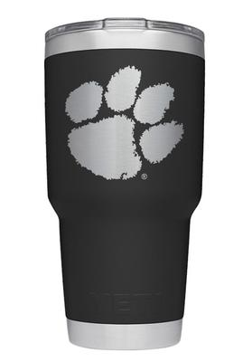 Clemson Yeti 30oz Black Powder Coated Rambler