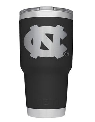 UNC Yeti 30oz Black Powder Coated Rambler