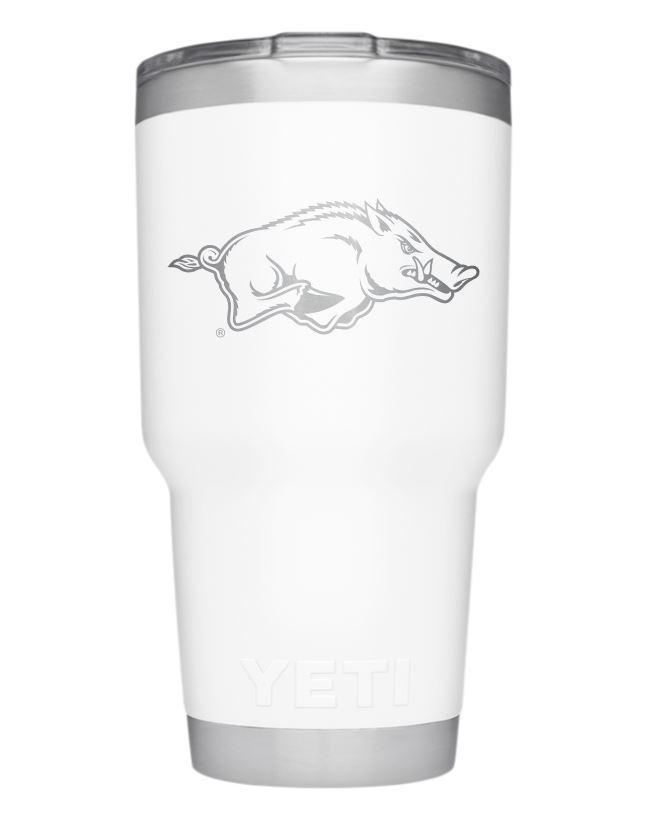 Arkansas Yeti 30oz White Powder Coated Rambler