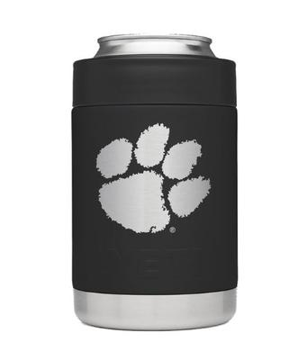 Clemson Yeti Black Powder Coated Rambler Colster