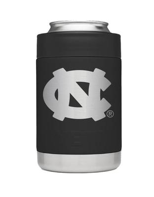 UNC Yeti Black Powder Coated Rambler Colster