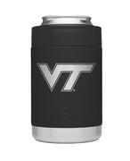 Virginia Tech Yeti Black Powder Coated Rambler Colster