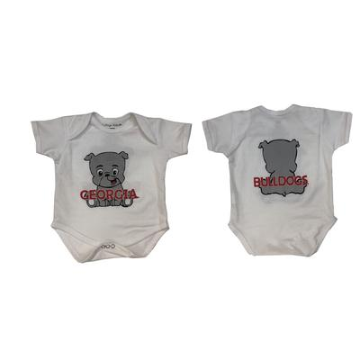 Georgia Front And Back Mascot Onesie