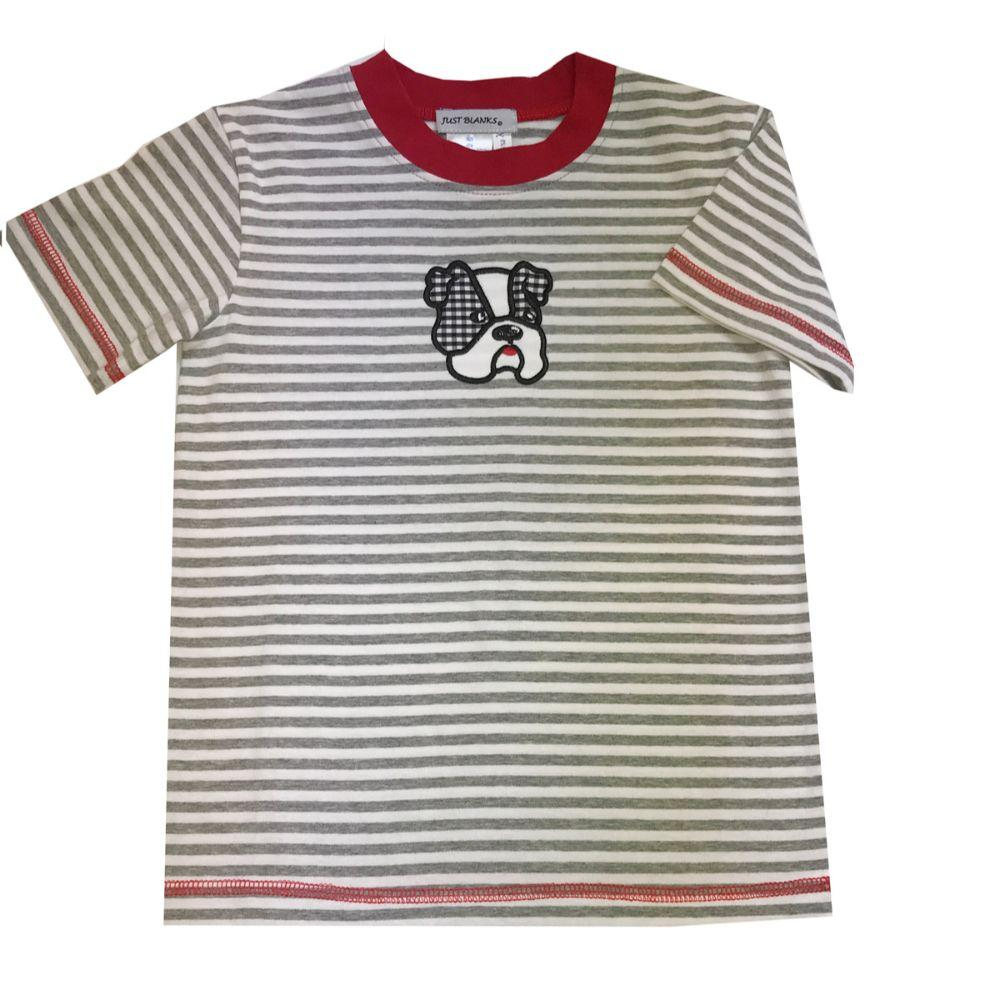 Grey And Red Toddler Tee