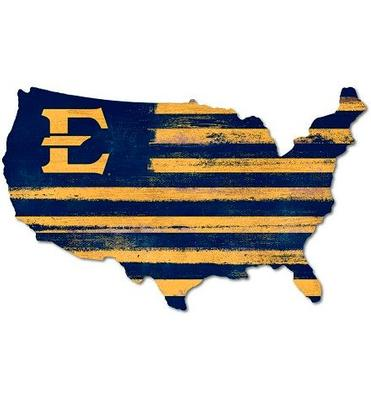 ETSU Legacy USA Wooden Wall Mount Sign