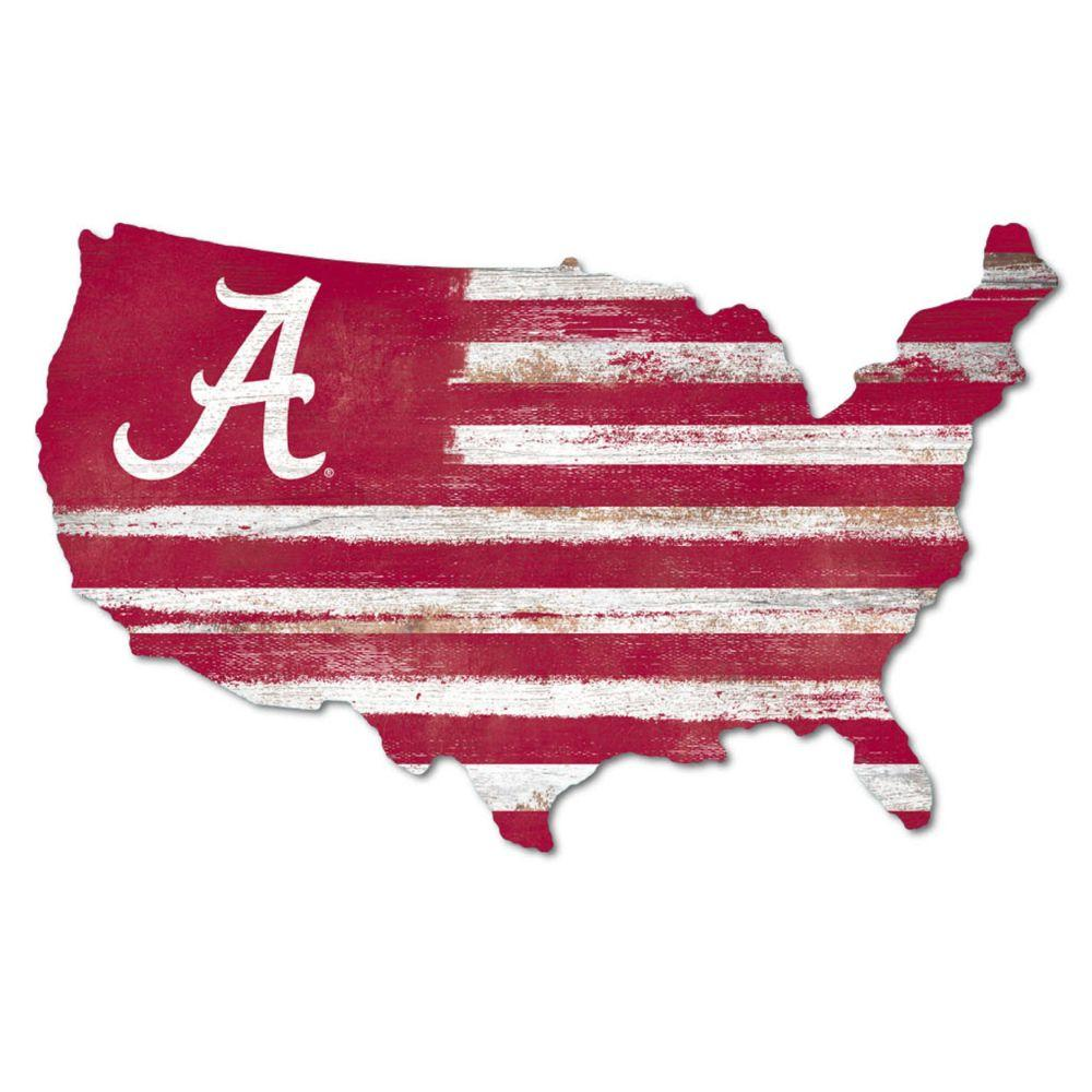 Alabama Legacy Usa Wooden Wall Mount Sign