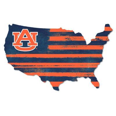 Auburn Legacy USA Wooden Wall Mount Sign