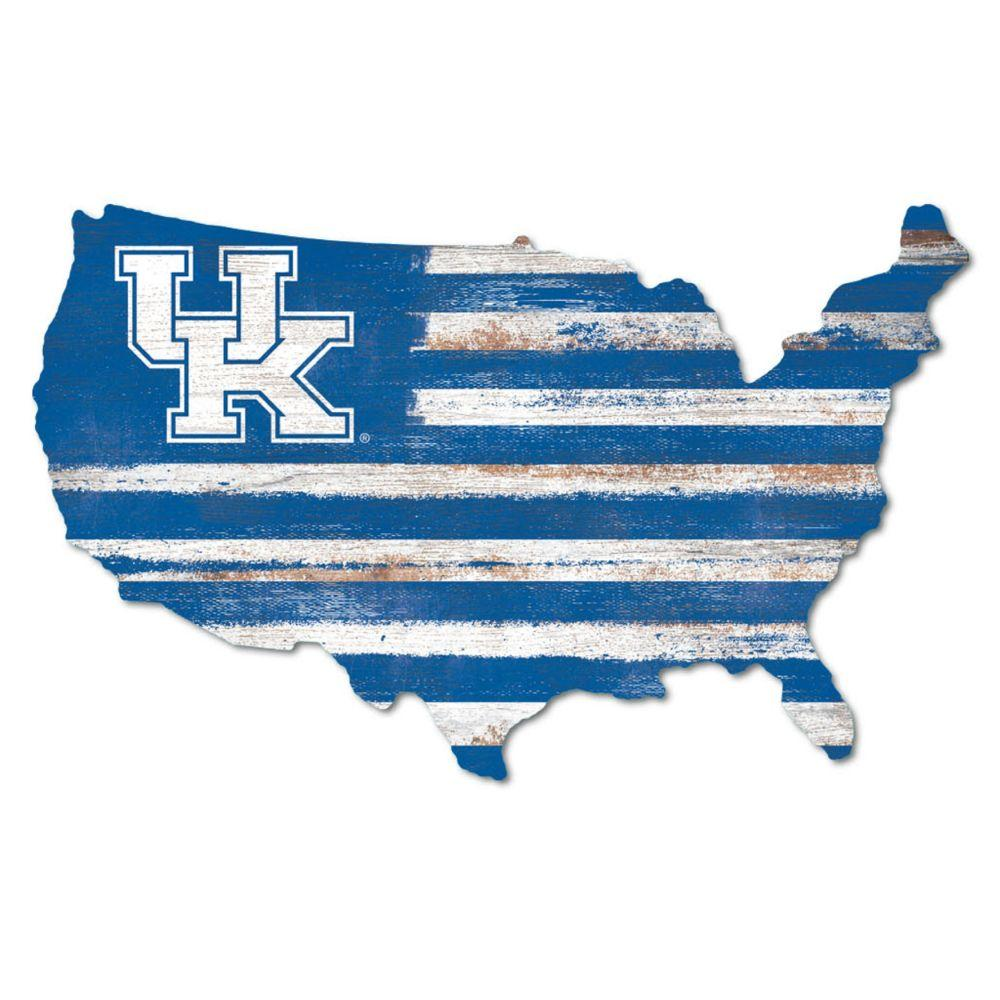 Kentucky Legacy Usa Wooden Wall Mount Sign