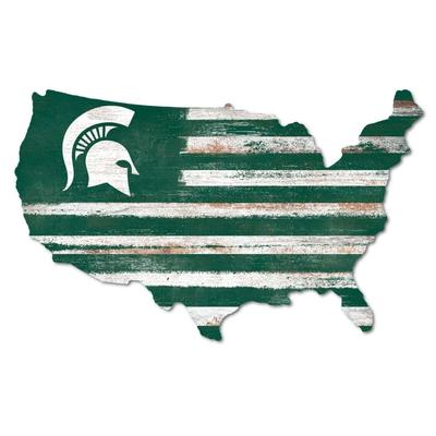 Michigan State Legacy USA Wooden Wall Mount Sign
