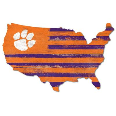 Clemson Legacy USA Wooden Wall Mount Sign