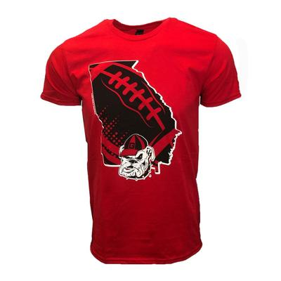 Georgia Bulldogs State Laces T Shirt