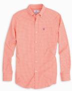 Clemson Southern Tide Gingham Intercoastal Vault Logo Woven Shirt